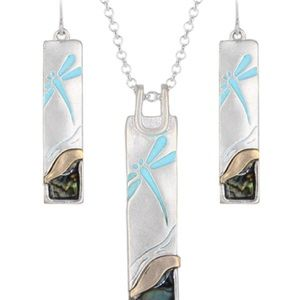 Jewelry - Dragonfly Pendant Necklace Set